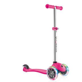 Globber Primo Lights тротинетка със светещи колела Neon Pink