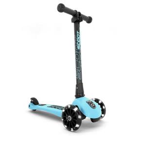 Scoot and Ride HIGHWAYKICK 3 LED сгъваема тротинетка със светещи колела - Blueberry