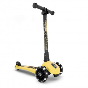 Scoot and Ride HIGHWAYKICK 3 LED сгъваема тротинетка със светещи колела - Lemon