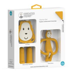 Matchstick Monkey Teething Starter Set комплект силиконови чесалки с антимикробна технология - Ludo Lion