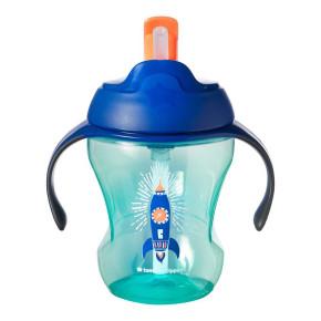 Tommee Tippee Неразливаща чаша със сламка 230ml 6m+ синя