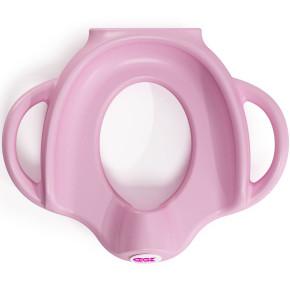 OK Baby ергономична седалка за тоалетна чиния - розова