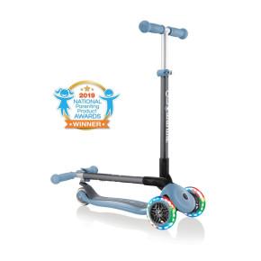 Globber primo Foldable Lights сгъваема тротинетка със светещи колела - Ash Blue