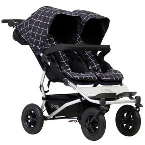 Mountain Buggy Детска количка за близнаци Duet V3 Black/White