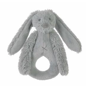 Happy Horse плюшена играчка зайчето Richie дрънкалка (18 см) - Grey
