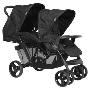 Topmark детска количка за близнаци или породени деца Riley - Black