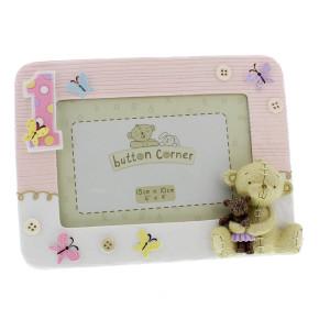 Button Corner фоторамка 1st Birthday