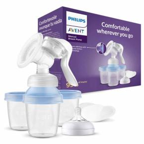Philips AVENT Ръчна помпа за изцежане Natural Motion с контейнери VIA