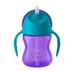 бебешка чаша със сламка - Philips Avent Stral cup Bendy SCF796/02