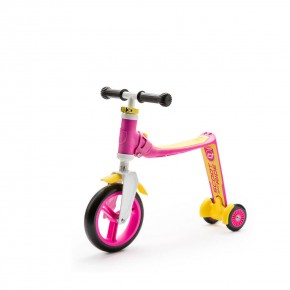 Scoot and Ride Тротинетка/колело за баланс 2 в 1 Highwaybaby Pink/Yewoll