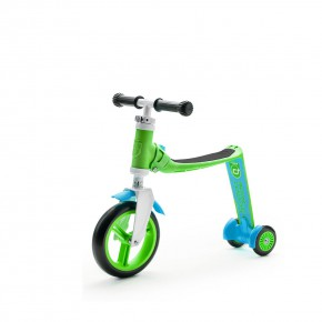 Scoot and Ride Тротинетка/колело за баланс 2 в 1 Highwaybaby Green/Blue
