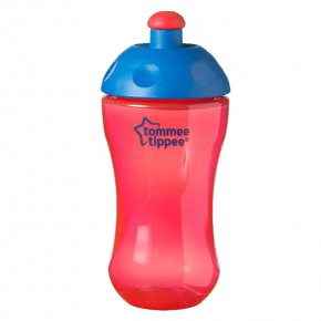 Tommee Tippee - шише със спортен накрайник - 300 мл- червено