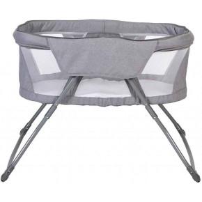 Topmark Sky II Crib in Travelbag сгъваема бебешка кошара с мрежа против насекоми - Grey