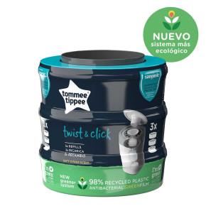 Tommee Tippee Комплект от 3 касети за хигиенен кош Twist and Click
